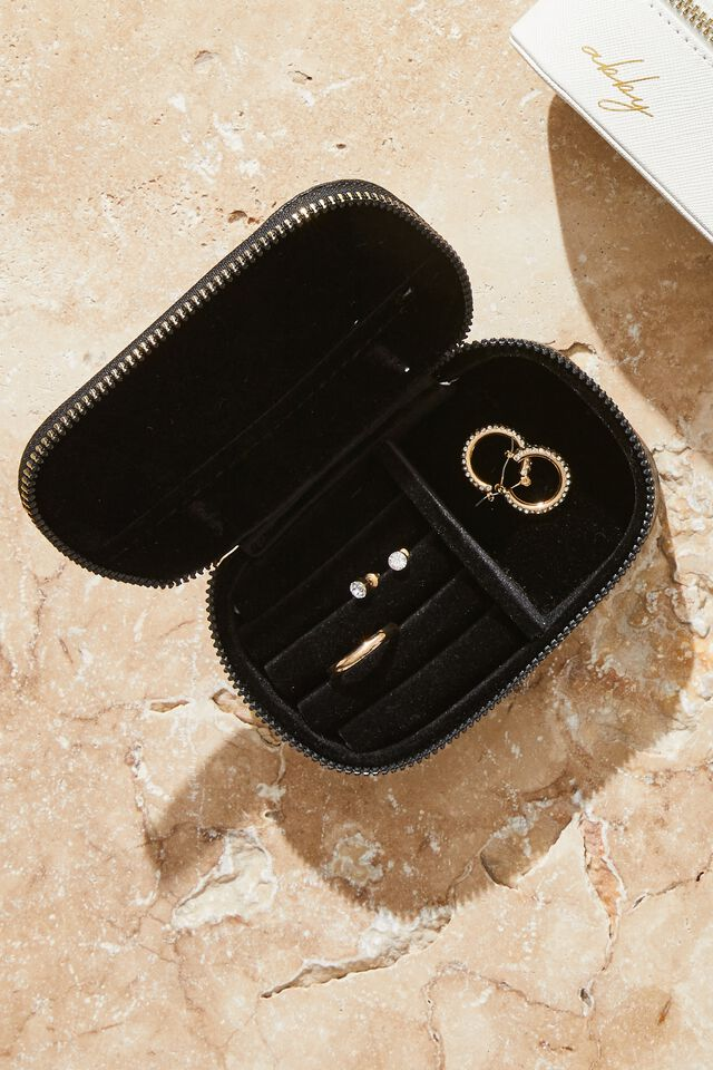 Personalised Jewellery Case, BLACK TEXTURE