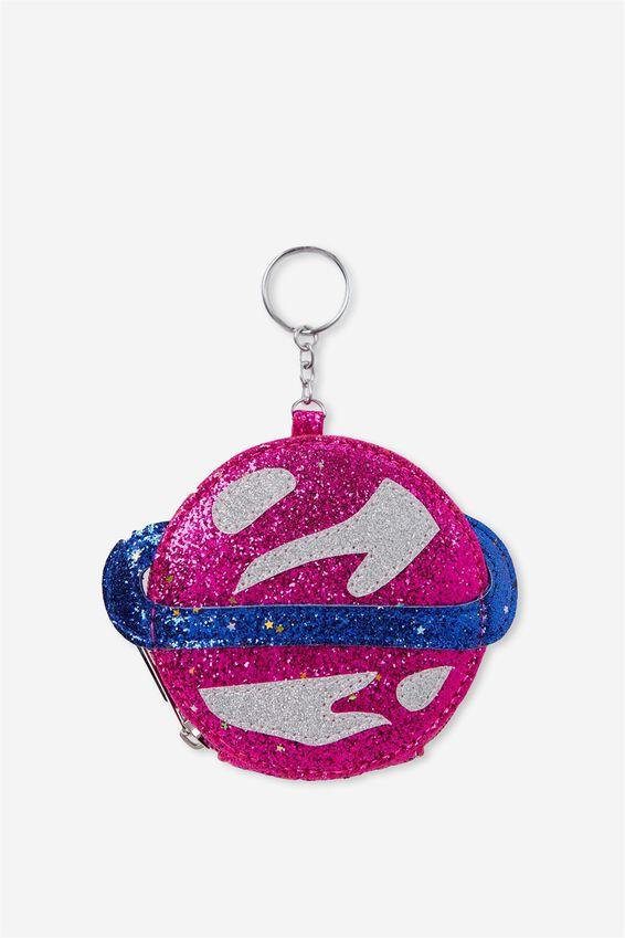 Glitter Zip Purse Keyring | Tuggl