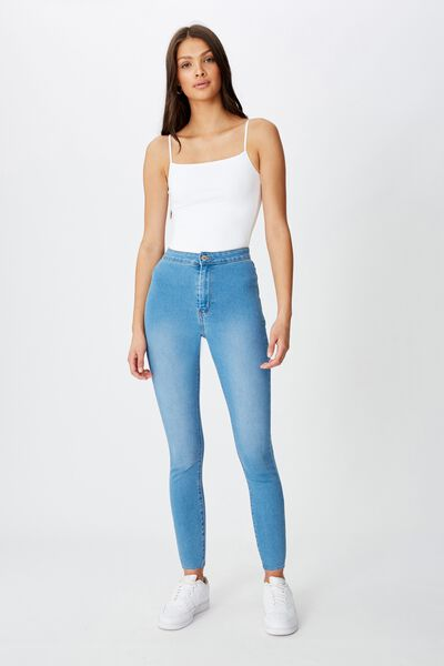 Super Skinny Sky High Jean, LAGUNA BLUE