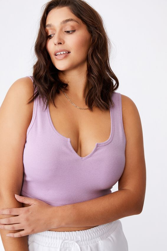 Laurel Notch Front Tank, ORCHID ROSE