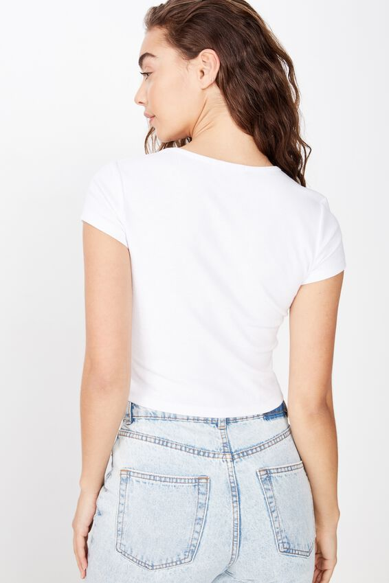 Lyra Rib Mini Tee, WHITE