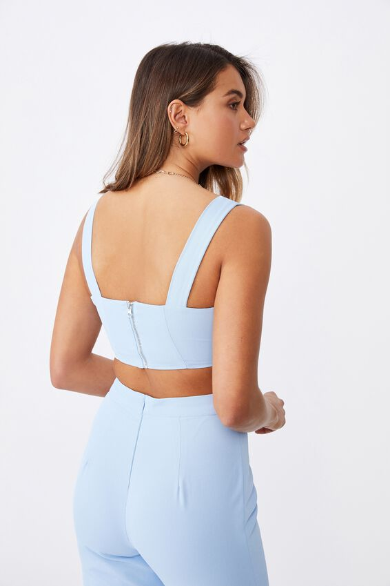 Celeste Crop Top, BLUEBELL