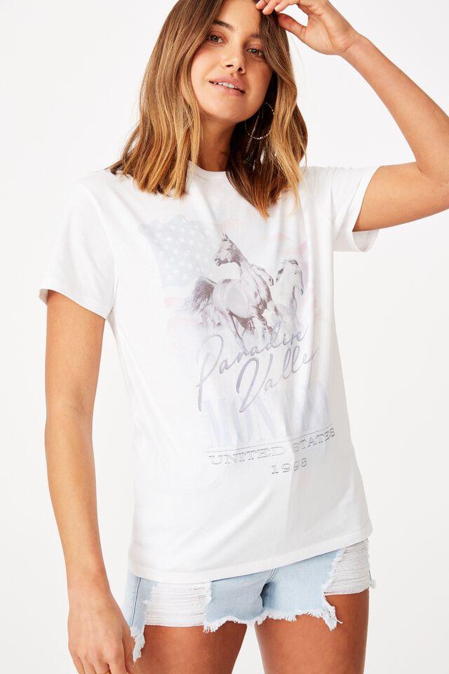 Horses Tee, WHITE/PARADISE VALLEY HORSE