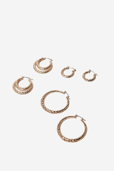 Multi Hoop Set, GOLD