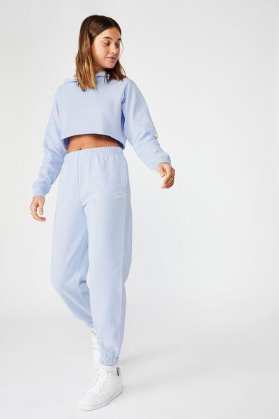 Melody High Waist Graphic Track Pant, BLUE PETAL/MALIBU