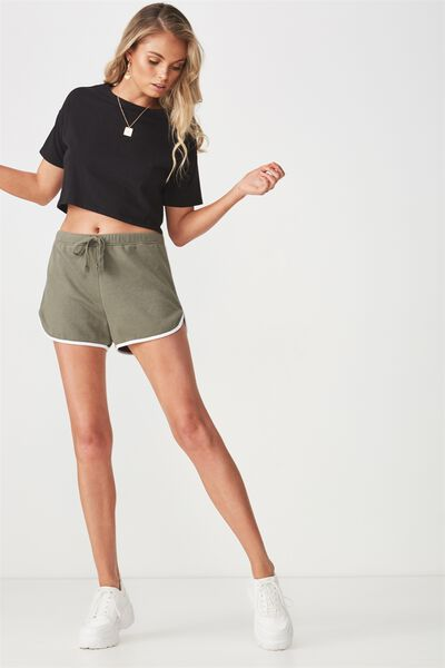 Basic Sweat Short, GUM LEAF KHAKI