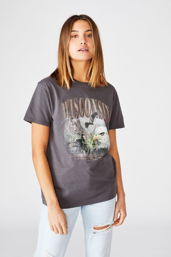 Wisconsin Tee, GRANITE GREY/WISCONSIN OUTDOORS