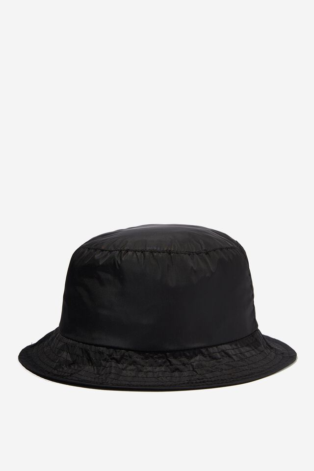 Tori Bucket Hat, BLACK NYLON