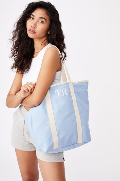 Personalised Canvas Tote Bag, BLUE BELL