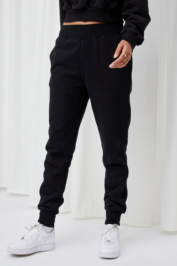 Erica Slim Fit Track Pant, BLACK