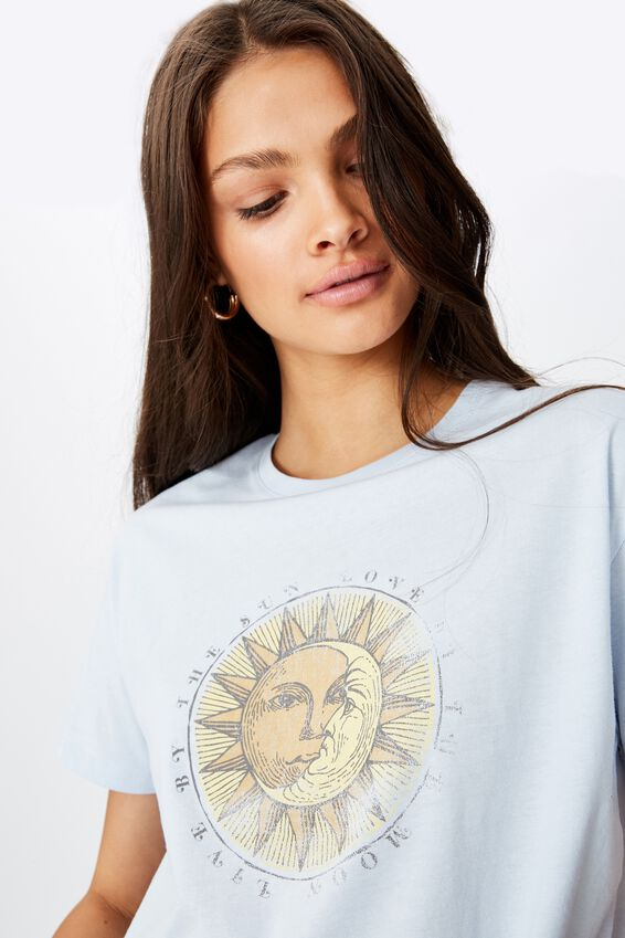 Sun Moon Tee, NEW DAWN BLUE/LIVE SUN MOON