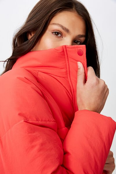 Emma Puffa Jacket, RED