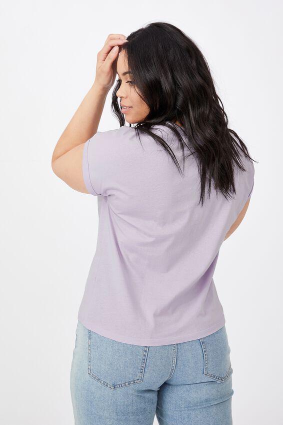 Kaya Crew Neck T-Shirt, ORCHID LILAC