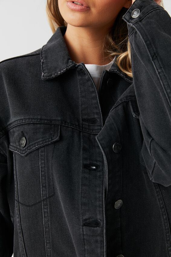 80S Denim Jacket, VINTAGE BLACK