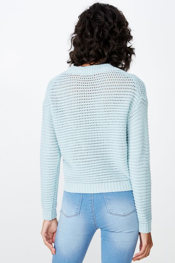 Spencer Chunky Knit, DUCK EGG