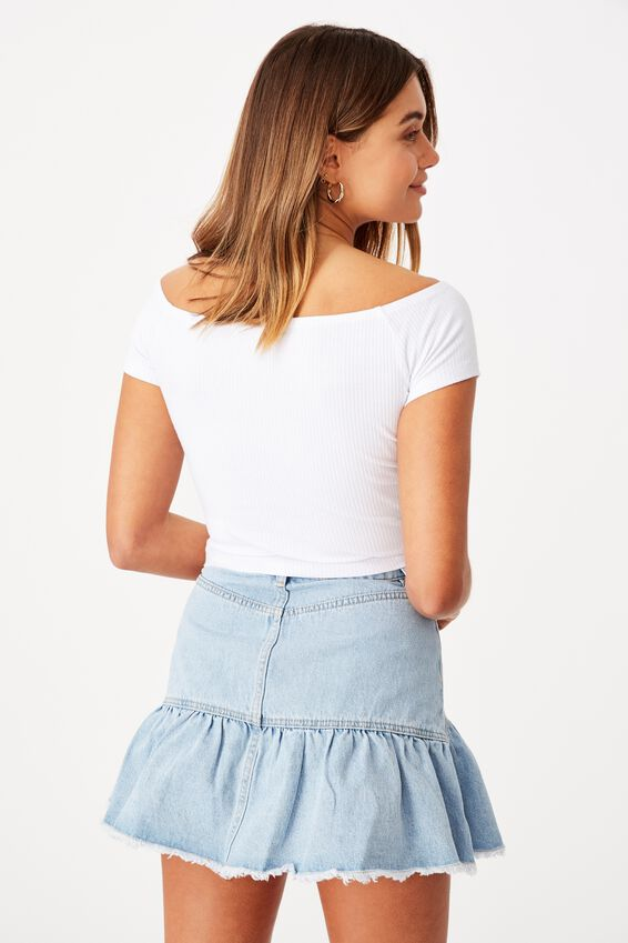 Maryanne Off The Shoulder Top, WHITE