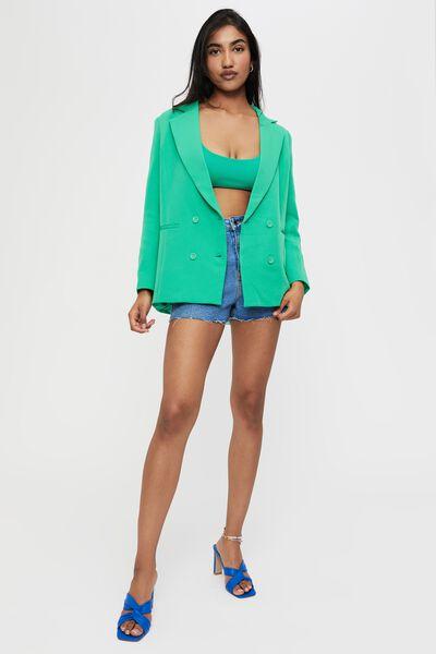 Charlotte Oversized Blazer, TROPIC GREEN