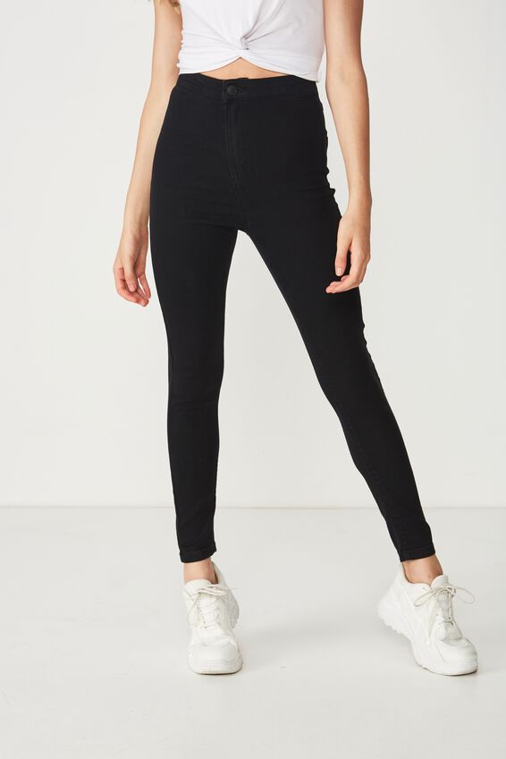 Short Super Skinny Sky High Jean, TRUE BLACK