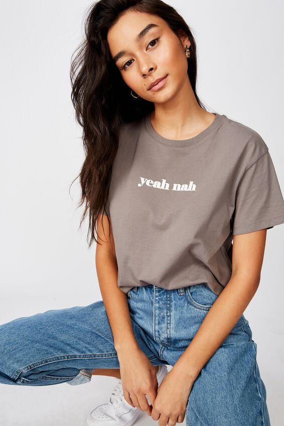 Yea Nah Tee, CEMENT GREY/YEAH NAH