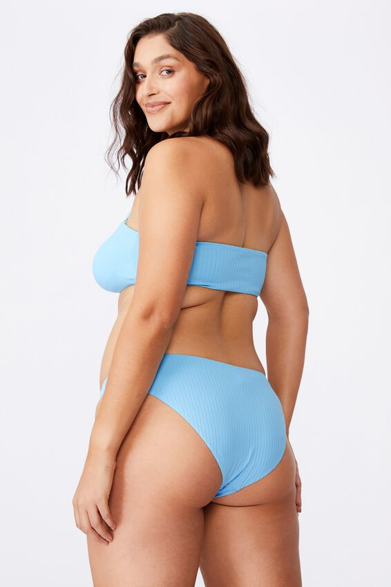 Orange County Full Bikini Bottom, COASTAL BLUE/ WIDE RIB