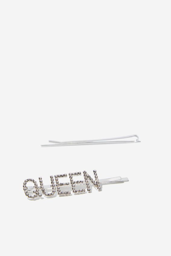 Embellished Hair Pins, QUEEN