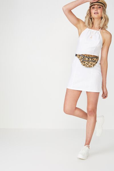 Halter Neck Dress, WHITE