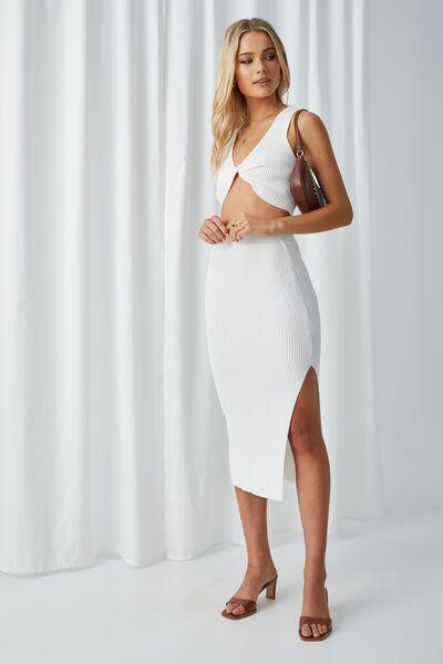 Leigh Midaxi Split Skirt, WINTER WHITE