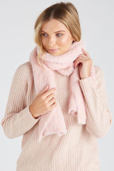 Super Fluffy Knit Scarf, BLUSH