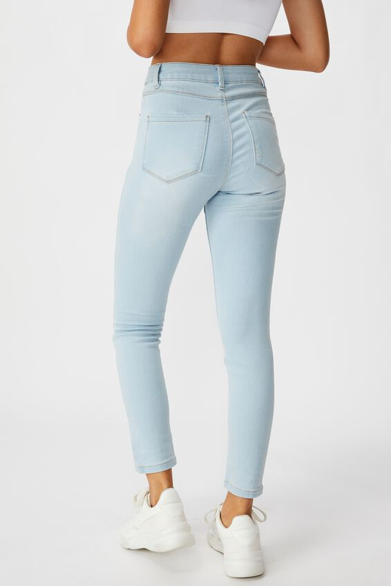 Short Leg Super Skinny Jean, BLEACH BLUE