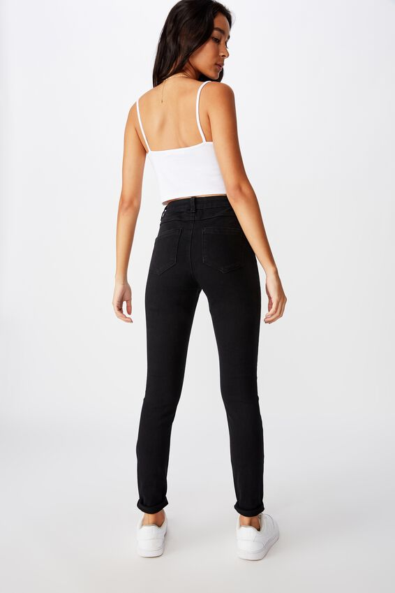 Short Leg Super Skinny Jean, BLACK