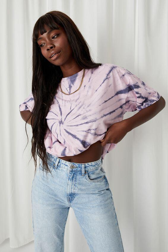 Piper Oversized T Shirt, SWIRL TIE DYE (PL BL/PRTY PNK)