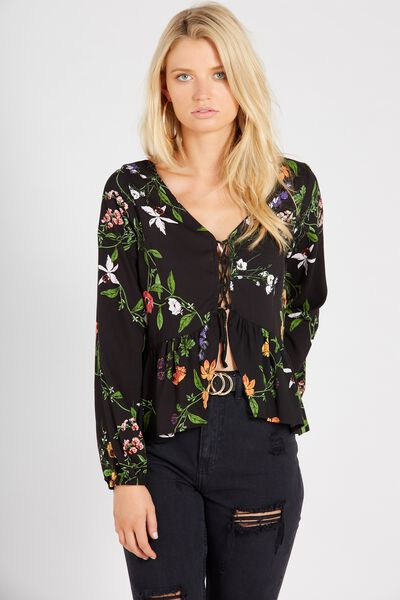 Suzie Long Sleeve Top, FAIRYTALE FLORAL