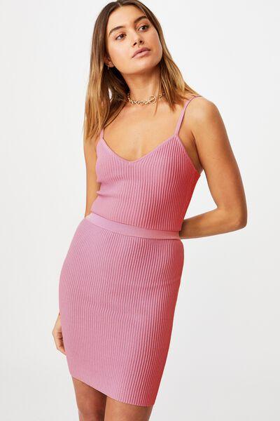 Mina Tube Skirt Co Ord, PUNCH PINK