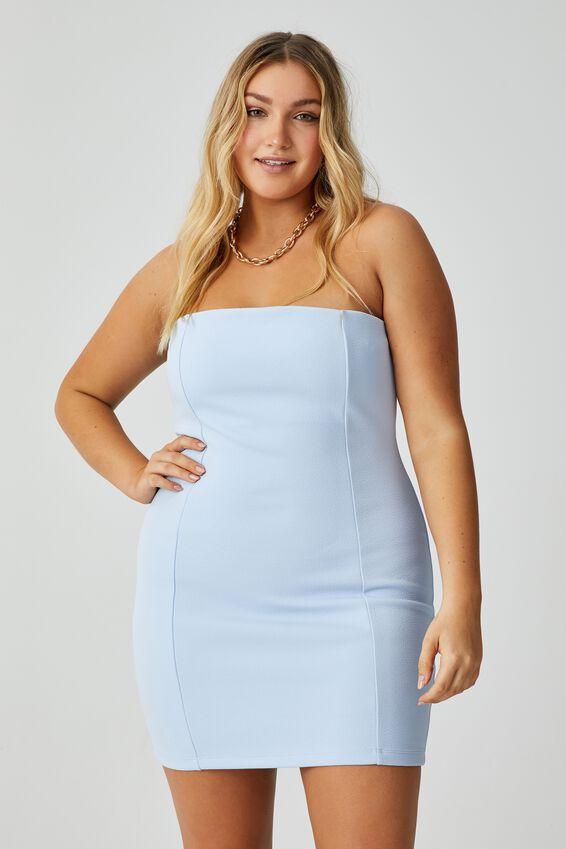 Dylan Strapless Mini Dress, AURA BLUE