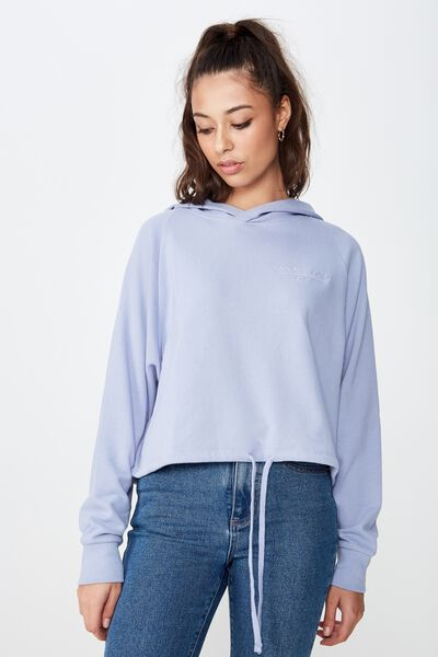 Adele Draw String Sweat, PERIWINKLE/PACIFIC COAST