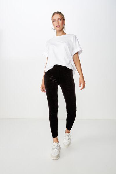 Chantel Fashion Legging, BLACK VELVET