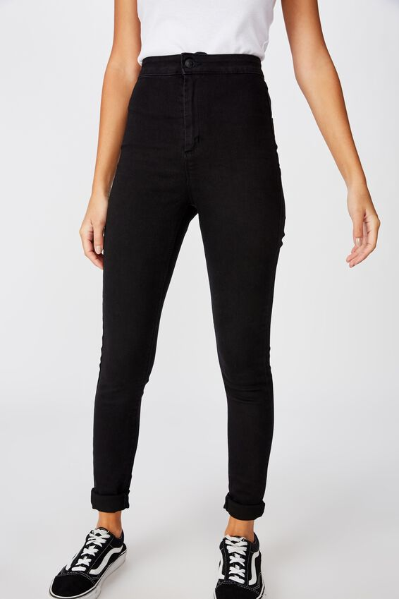 Short Leg Super Skinny Sky High Jean, TRUE BLACK