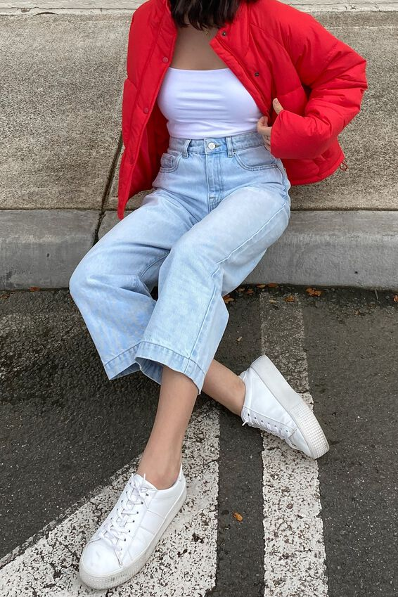 Classic Puffer Jacket, RED