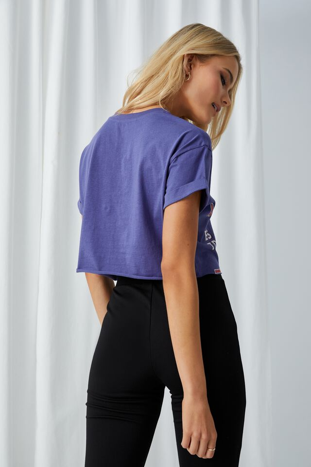 Santa Barbara Crop T Shirt, COBALT NAVY/SANTA BARBARA