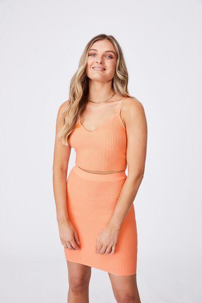 Mina Tube Skirt Co Ord, SHELL PINK