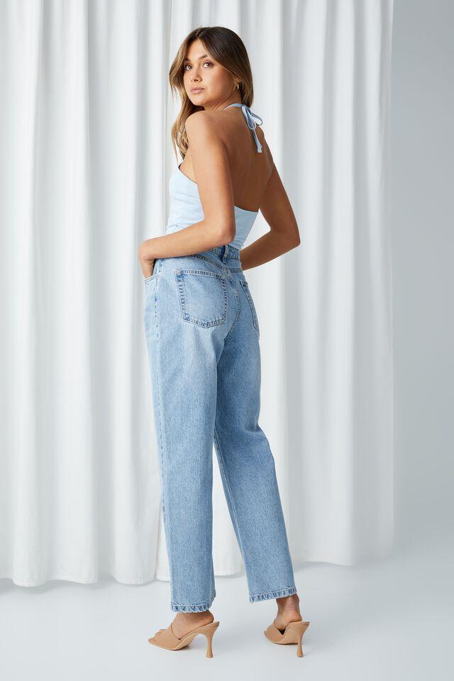 High Rise Straight Jean, SUNLIGHT BLUE