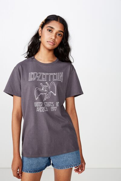 The Kendall Graphic Tee, GRANITE GREY/LED ZEPPELIN