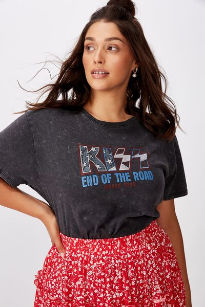 The Kendall Graphic Tee, WASHED BLACK/KISS TOUR