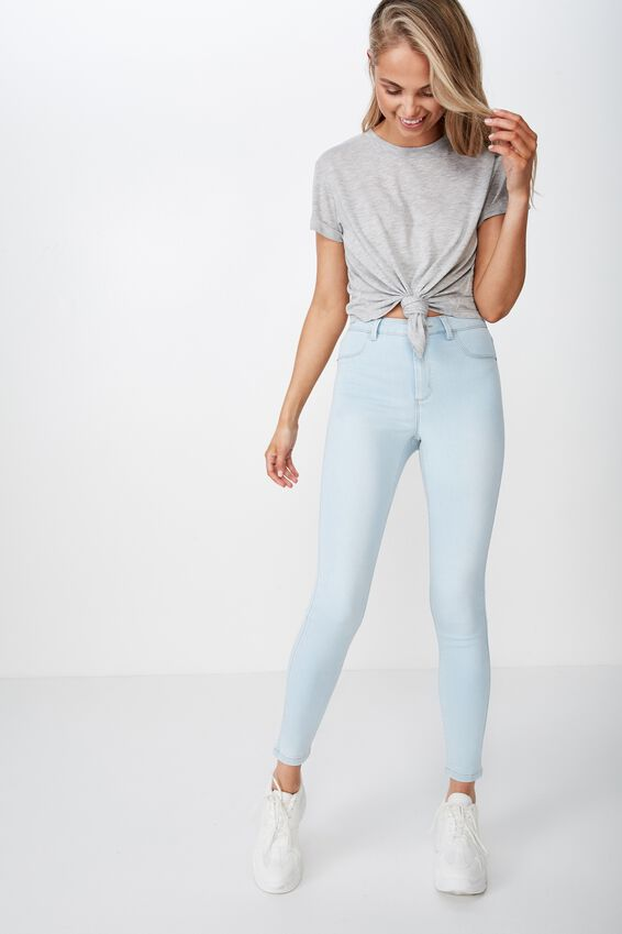 Laura Knotted Tee, GREY MARLE