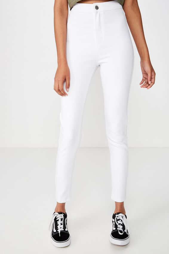 Super Skinny Sky High Jean, WHITE