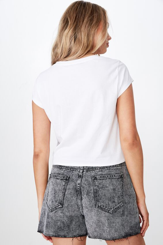 Finley Tie Front Top, WHITE
