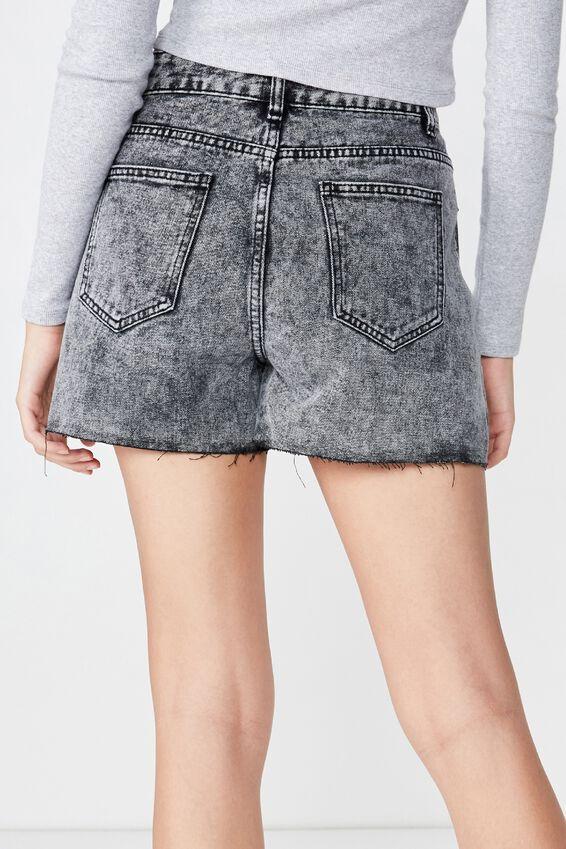 Venice Mom Denim Shorts, ACID WASH BLACK