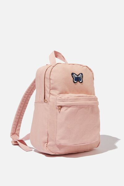 Canvas Back Pack, WASHED PINK FLOSS/BUTTERFLY