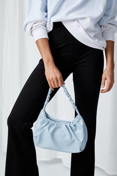 Carmen Ruched Shoulder Bag, SERENE BLUE