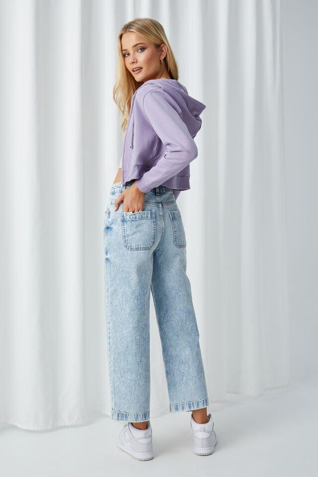 Wide Leg Jean, LIGHT BLUE SNOWFLAKE